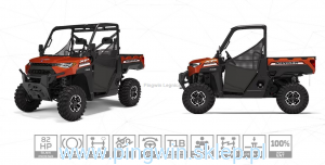 Polaris Ranger XP 1000 Orange Rust Homolog traktor