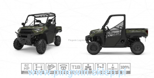 Polaris Ranger XP 1000 Orange Rust LE Homol trakto